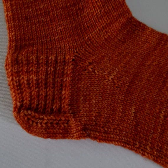 À la main tricot chaussettes en Orange, UK taille orange, 6, chaussettes orange, taille tricoté à la main chaussettes, chaussettes taille UK 6, Orange à la main tricot chaussettes, chaussettes en laine mérinos 2ed338