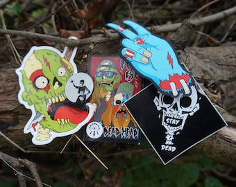 The Zombie Pack- Enamel Pin, Patch & Stickers