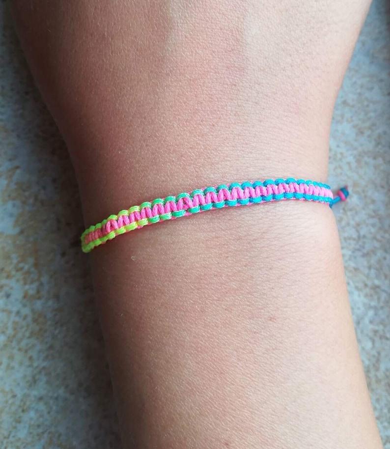Summer Anklet Adjustable Bracelet Party Bracelet Amulet Kids Bracelet Meditation Bracelet Rainbow String Cord Bracelet Women Jewelry