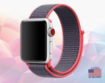 Apple Watch Lightweight Breathable Nylon Sport Band Apple Watch Band 38mm Apple Watch Band 42mm iWatch Band Apple Watch Band Series 3 2 1