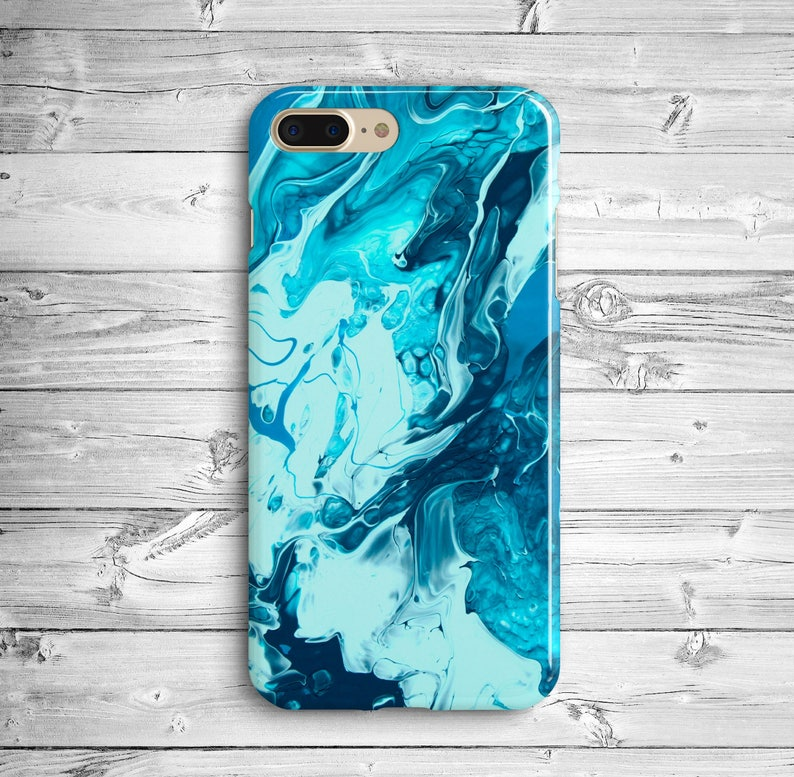 low priced cc0e7 85210 Light Blue Marble iPhone 7 Plus Case iPhone 8 Plastic Case iPhone 7 Case  iPhone X Marble Case Samsung Galaxy S5 S6 S7 Edge Blue Marble Case