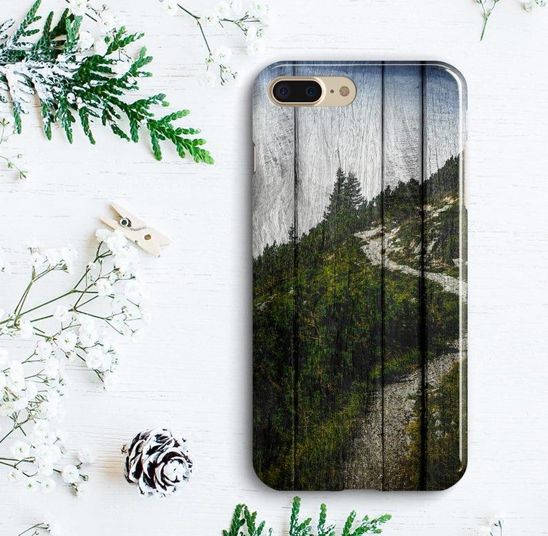 Wooden Landscape iPhone 7 Plus Plastic Case iPhone 8 Plus Case iPhone 6 6s  7 Nature Case iPhone X 10 Forest Case Samsung Galaxy S7 Edge Case