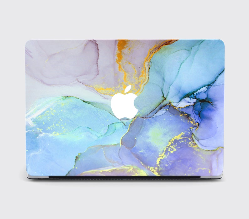 Colorful Abstract MacBook Pro 15 Touch Bar 2018 Case Acrulic Paint Air 11 13 Inch Hard Cover Blue Marble MacBook Pro Retina 13 2018 Case