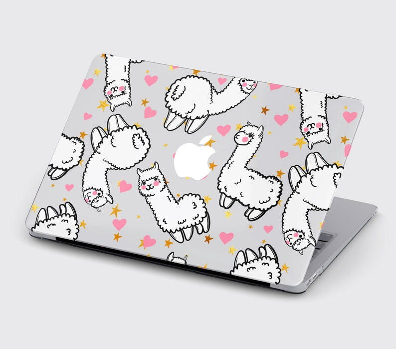 Animals MacBook Air 11 Case Air 13 Hard Cover Macbook 13 Pro Retina Touch Bar Lama Case Macbook 15 Pro 2018 Happy Lama Case Macbook 16 Case