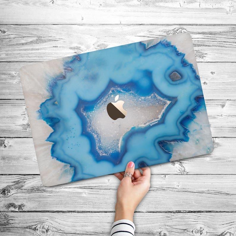 new style be2b2 90e6d Light Blue Agate MacBook Air 11 Case Blue Crystal Air 13 Case Macbook 13  Pro Retina Blue Crystal Case Macbook 15 Pro 2016 Agate Stone Case