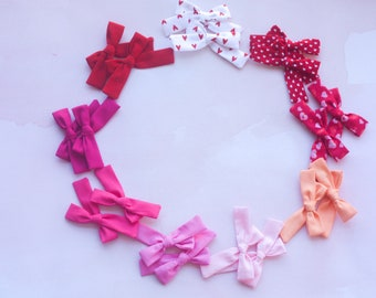 Animal Print Pigtail Set Liverpool Hair Bows Fabric Bow Clips Leopard Pigtail Bows