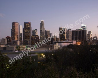 Los Angeles Downtown at Sunset