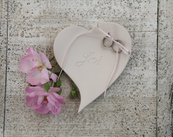 Heart ring dish 'Yes!'