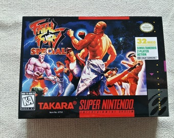 SNES Fatal Fury Special Replacement Box Universal Video Game Case High  Quality e4a55ee4055d