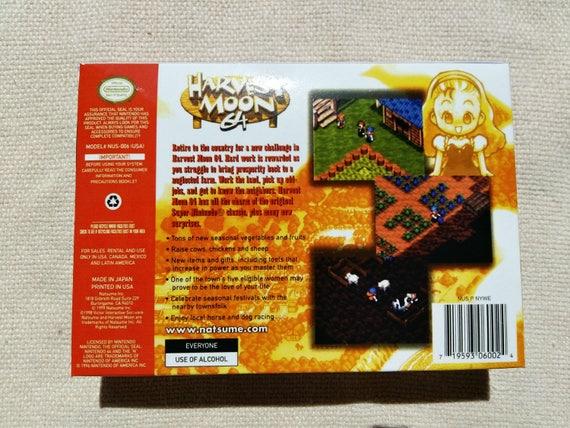 N64 Harvest Moon remplacement boîte universelle du jeu vidéo étui de haute qualité