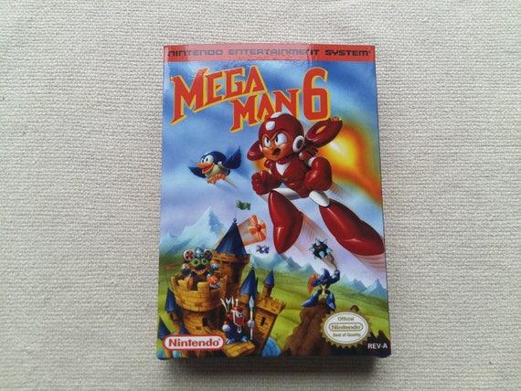 NES Megaman 6 Mega Man 6 Mega Man VI remplacement boîte universelle du jeu vidéo étui de haute qualité