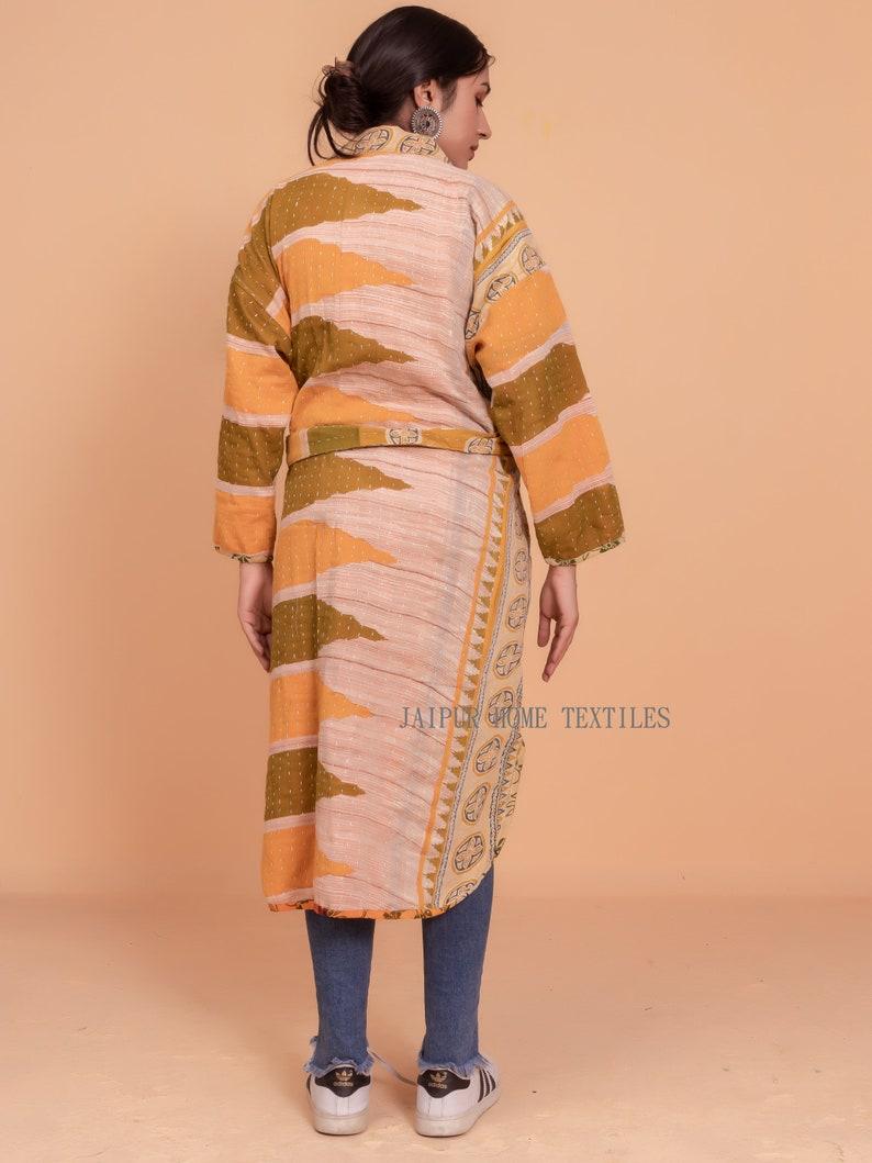 gowns Reversible Vintage Kantha 100/% Cotton kimono Robes Women/'s robes cotton dressing gown kimono winter robe for winter best gift