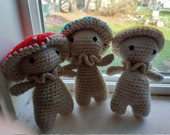 Mushroom Friends!!! - MADE TO ORDER