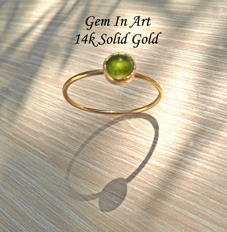 Gold Stacking Ring,Solid Gold ring,Dainty Ring,14K Gold ring,Tourmaline Ring,gold stackable ring,minimalist Ring,bague or,bague fine