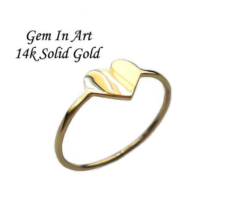 953bc8a02 Dainty Gold Ring14K Gold RingGold Heart RingGold | Etsy