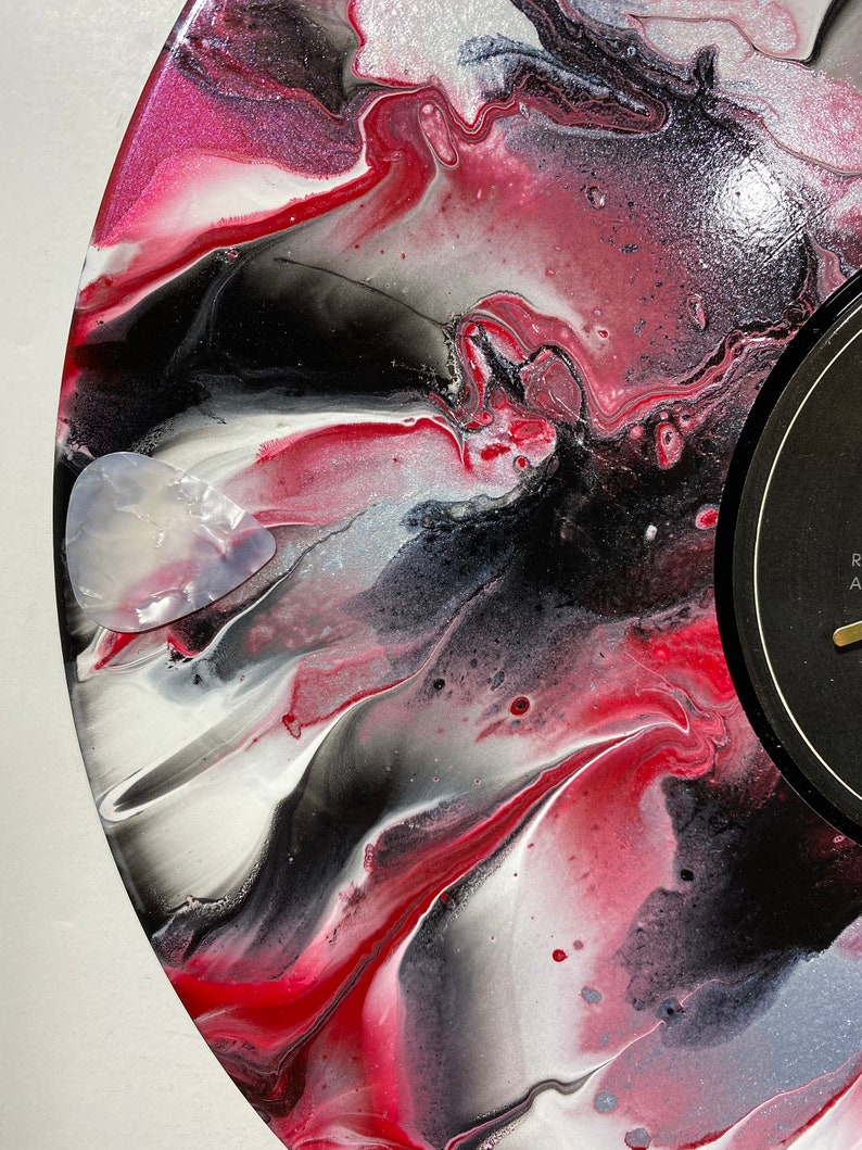 Cyndi Lauper unique gift recycled art rock and roll fan Up-cycled record album wall clock music lover gift recycled clock