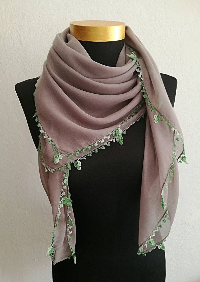 Turkish Style Casual Brown  Cotton Blend Scarf 37x37 inch