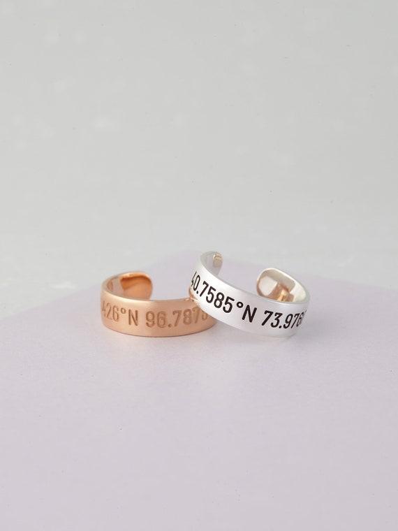 Ring Gravur Personalisiert Verstellbarer Ring Etsy