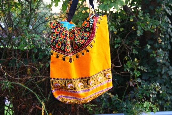 African fabric tote bag orange tote bag Ankara tote orange  8b8f289b2fd95