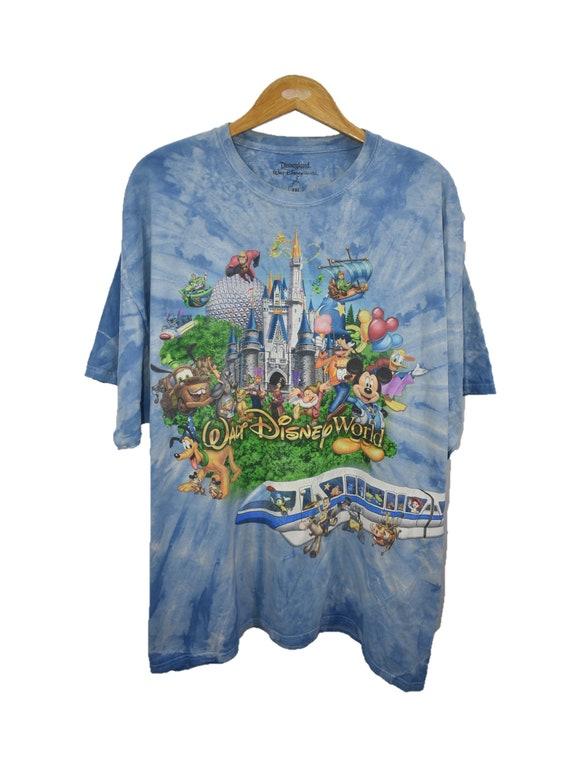 Vintage World Disneyland Resort Graphic Tie Dye Te