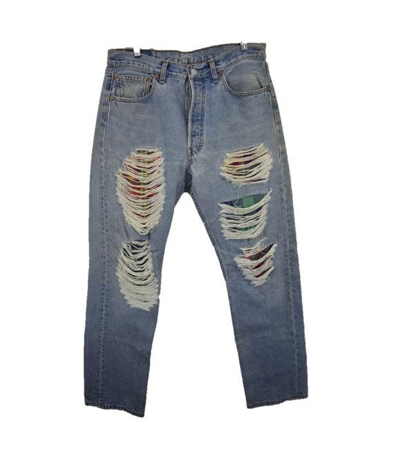 Vintage Levi's Distressed Grunge Denim Jeans