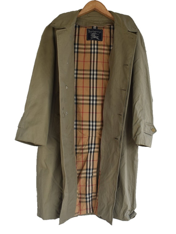 Vintage Burberry trench coat nova check medium