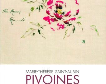 Book peonies Maria Theresa Saint-Aubin - 11 cross stitch charts