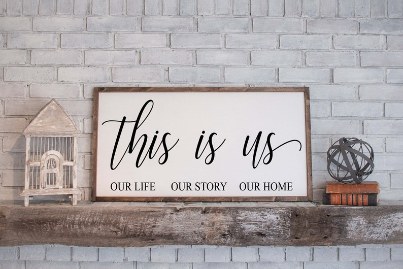 This Is Us Sign This Is Us Farmhouse Sign This Is Us Wood image 0