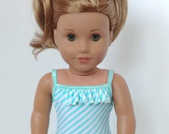 18 inch doll swimsuit. Fits American girl doll . 18 inch doll bathing suit. 1 piece swim suit.