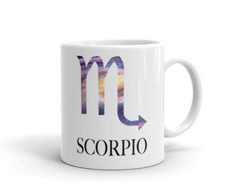 Scorpio star sign, coffee mug, birthday gift, gift for women, gift for men,