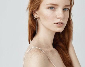 Ultra circle standard bar earrings