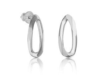 CHAIN OBSESSION stud earrings - peckové náušnice