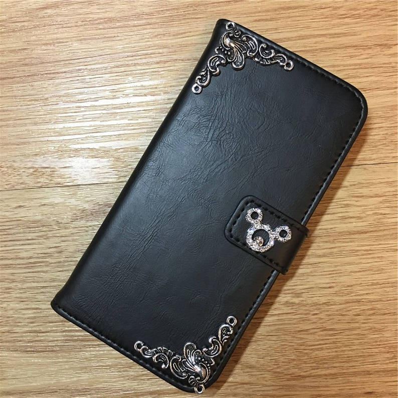 best sneakers 145ba 25f68 Mickey Mouse Wallet Leather Flip Handmade Stand Case Cover For Apple iPhone  6 6S 6 Plus 6S Plus 7 7 Plus 8 8 Plus X XS XR XS Max