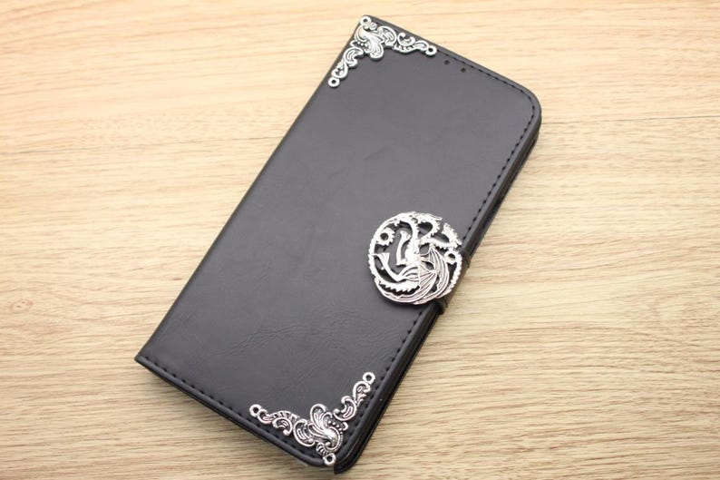 sports shoes 1c208 42bc1 Game of Thrones Targaryen Dragon Wallet Leather Handmade Stand Case For  Samsung Galaxy S5 S6 S7 Edge S8 S9 S10 Plus Note 3 4 5 8 9 A3 A5 A8