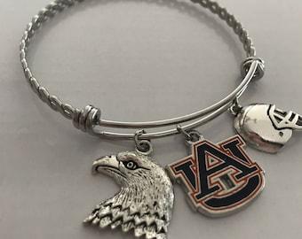 Auburn University bangle charm bracelet