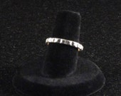Vintage Bell Sterling Silver Embossed Squares Stackable Ring c1960s