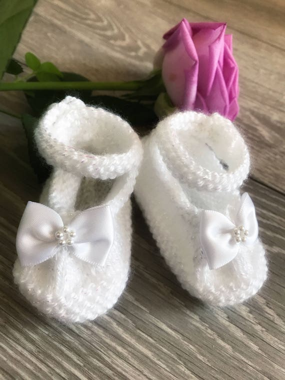 Baby Girls Christening Shoes Bow Shoes Girls White Shoes Christening Gifts