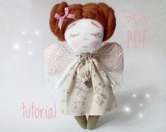 rag doll pattern pdf pattern doll textile Pattern Rag Doll pdf sewing pattern Pattern Baby Sewing Patterns pink doll pdf tutorial pink doll