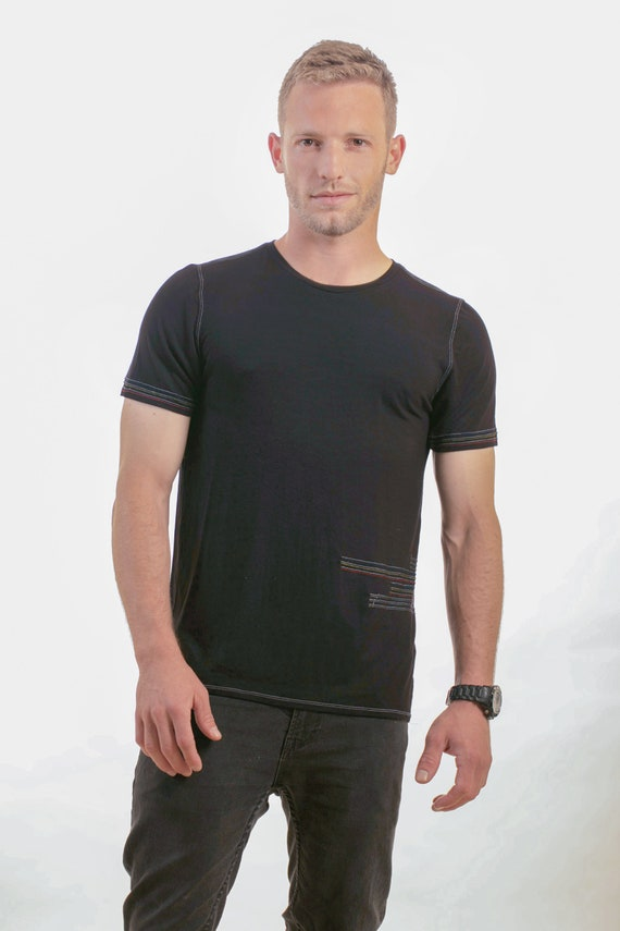 Design Evening Mens Black clothing mens shirt Top wear Mans Handmade shirt Mens clothing shirt tshirt Unique fashion Mans Shirt T AX0XRq