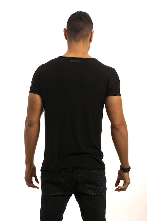 Shirt Mens wear clothing Tshirt Design shirt shirt Handmade Mens Mens Top Evening clothing Man's shirt Black Mans Unique T fashion xB41FwFXn