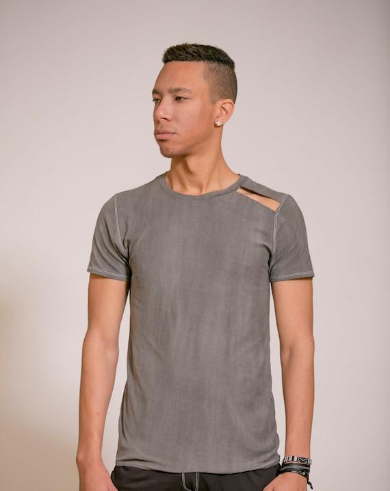 fashion clothing Design Mens tshirt shirt Mens shirt Gray Handmade shirt Unique shirt clothing T Man's Top gay Shirt Mens Mans XnqqUw8F