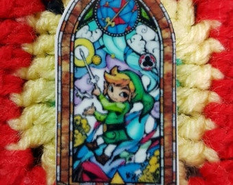Kawaii handmade Link Legend of Zelda brooch/ pin badge - gaming
