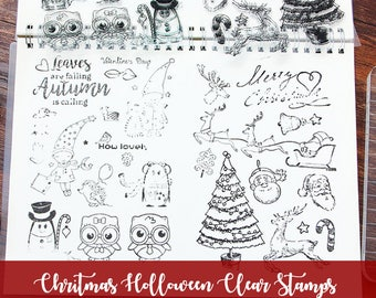 Chritmas stamps Holloween/ Dogs/Rose/Mermaids/ planner scrapbook Clear Photopolymer Stamps card making Stamp