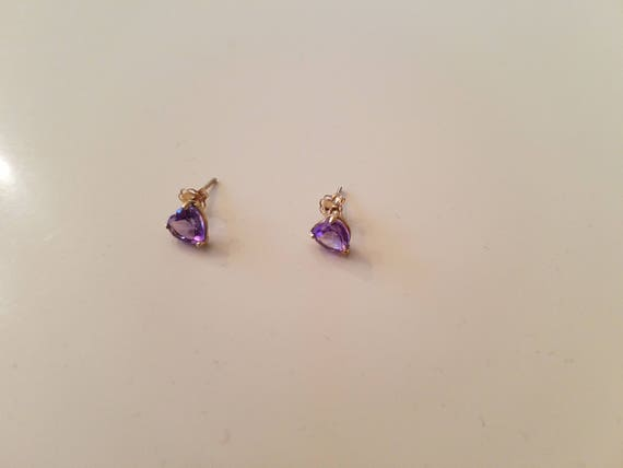 Amethyst pierced earrings