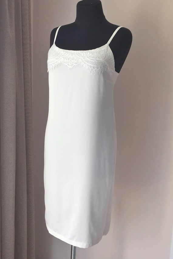 comprare on line dd215 f773b Camicia da notte bianca, camicia da notte da sposa, negligee, nightdress,  lingerie da sposa, camicia da notte da sposa in pizzo, camicia da notte, ...