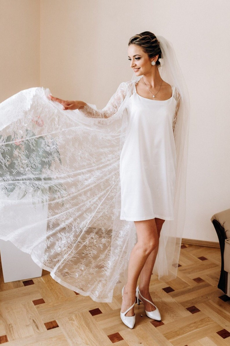 66a9c889d Lace bridal robe Nightgown Long lace robe Bridal dressing