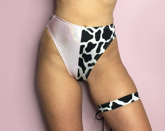 Hologram and cow print bottoms