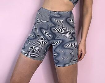 Optical illusion biker / cycling shorts
