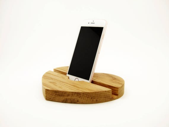 Hartvormige houten tablet stand ipad houder iphone doc desktop etsy