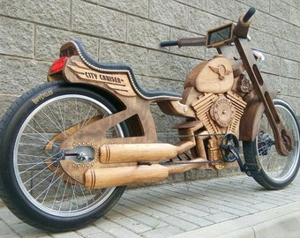 WB City Cruiser - Luxury wood bike, electric motor option - Wooden bicycle -  Best cycling gift idea for men and women, for bikers